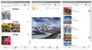 Canon Online Photo Album App